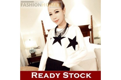 CLEARANCE   Fashionhomez 17226 Five-pointed Star Turtleneck Sweater
