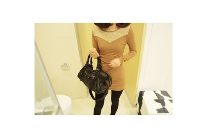 CLEARANCE   Fashionhomez 20053 Autumn New Korean Dress (Apricot)