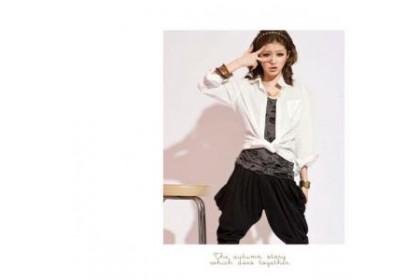 CLEARANCE   Fashionhomez 48069 Sleek minimalist solid color shirt (white)