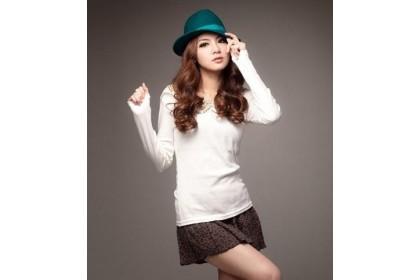 CLEARANCE   Fashionhomez 62332 Eye-catching single white t-shirt