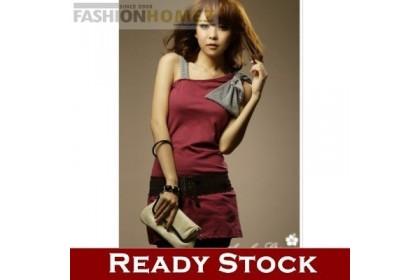 CLEARANCE   Fashionhomez 56155 Beautiful Pure Single Diagonal Shirt ( Exclude Belt )