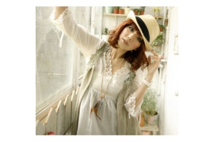 CLEARANCE   Fashionhomez 81153 Solid Color V-Neck Lace Blouse ( White )