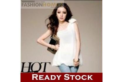 CLEARANCE   Fashionhomez 81556 Perfect Weave Shoulder Strap Chiffon Blouse