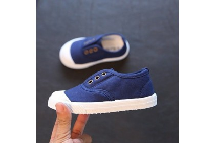 Fashionhomez 2001 Baby Canvas Shoes (Blue , Yellow) - size 20-33