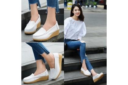Fashionhomez 8160 White Nurse Leather Shoes ( size 35-40 )