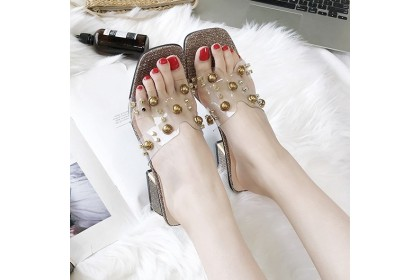 Fashionhomez 8035 Roman Pearl Heel ( Big Cutting ) - size 35-39
