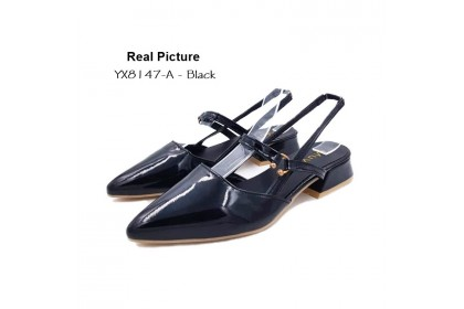 Fashionhomez 8147 California Back Strap Mid Heel ( size 35 - 41 ) - Plus Size