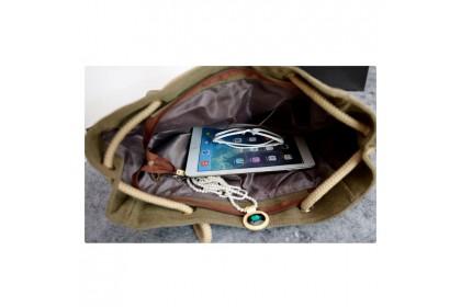 Fashionhomez BW5142 Women Simple Shoulder Canvas Handbags