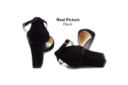 Fashionhomez 8036 Sandalia Suede Heel ( size 35-40 )