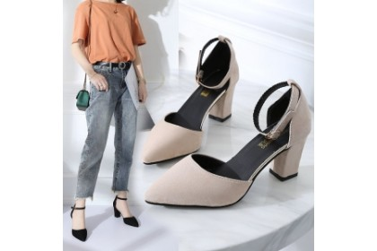 Fashionhomez 8036-B Sandalia Ankle Heel ( size 35-39 )