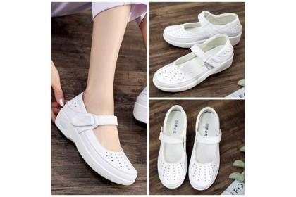 Fashionhomez 8048-B Nurse White PU Shoes ( Size 38 )