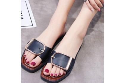 CLEARANCE  Fashionhomez 7894 Belt Buckle Rubber Slippers