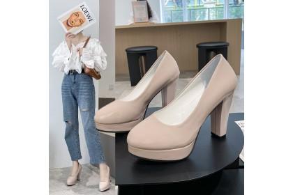 Fashionhomez 1745 Round head Heels - Plus Size ( size 35-42 )