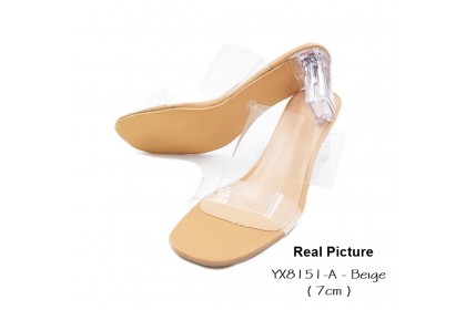 Fashionhomez 8151 Sandy Glass Heel Shoes 10cm & 7cm (size 34 - 41)
