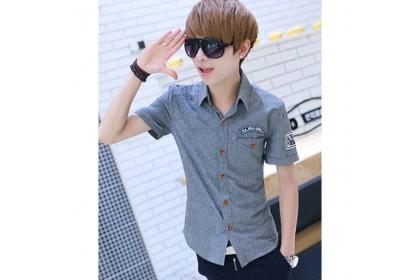 CLEARANCE ITEM  Fashionhomez 4687 Casual Denim Shirt ( size XL )