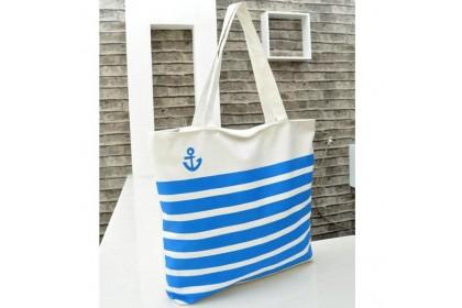 Fashionhomez BW5309 Stripe Canvas Tote Bag