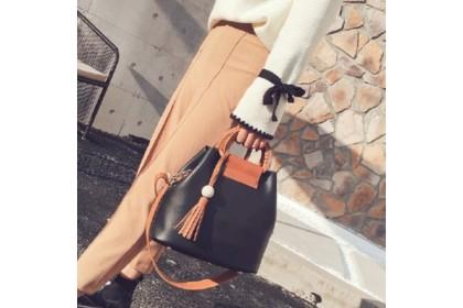 Fashionhomez 5400 Women Shoulder Bag With Tassels Wooden Bead