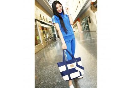 Fashionhomez BW5323 Stripe Canvas Tote Bag