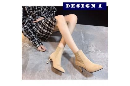 Fashionhomez 8146 Boston Heel Booties ( size 35 - 40 )