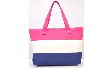 Fashionhomez BW5231 Simple Striped Canvas Shoulder Bag