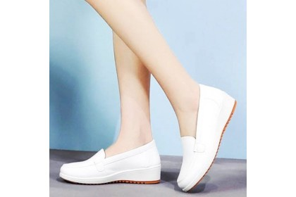 Fashionhomez 8048 Nurse White PU Shoes ( size 35-41 ) Plus Size
