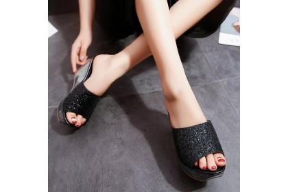 Fashionhomez 8153 Sophia Bling Wedges ( size 35 - 39 )