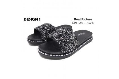 Fashionhomez 8135 Mary Bling Diamond Slipper ( size 36 - 41 ) - Plus Size