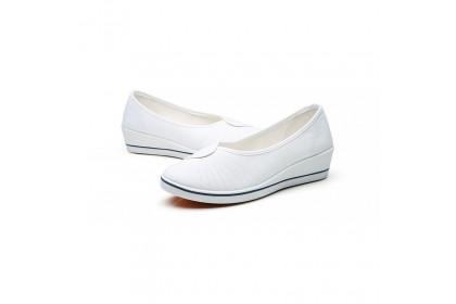 Fashionhomez 8047 Nurse White Canvas Shoes ( size 35-41 ) Plus Size