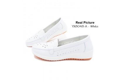 Fashionhomez 8048-A Nurse White PU Shoes ( size 37 , 40 )