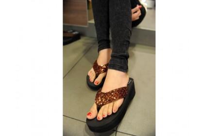 Fashionhomez 6044 Sequined Sandal ( size 37-39 )