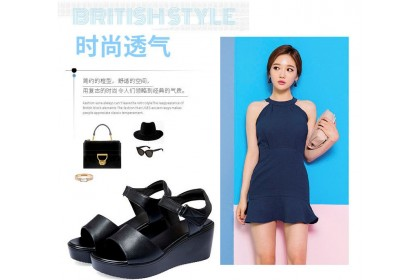 Fashionhomez 8223 Simple Strappy Wedges ( size 35-40 )