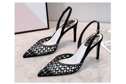 Fashionhomez 8226 Sexy Diamond Back Strap Heel ( size 35 - 40 )