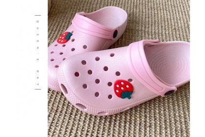 Fashionhomez 8228 Cute Rubber Bear & Strawberry Shoes ( size  36-41 ) - PLUS SIZE