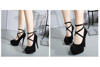 Fashionhomez 7790-A Super High Heels (12cm) - Plus Size ( size 35-42 ) - Small Cut
