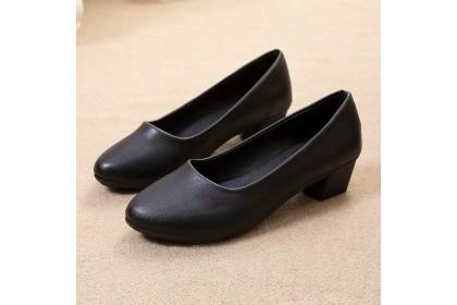Fashionhomez 8091-A Avori OL Black Shoes ( size 35-40 )
