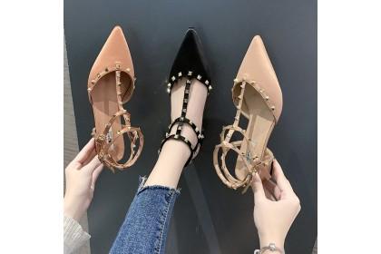 Fashionhomez 8231 Aurelia Double Rivet Shoes ( size 35-39 )