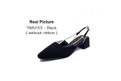 Fashionhomez 8233 Bellarina Strap Heel ( size 35-39 ) - Big Cutting