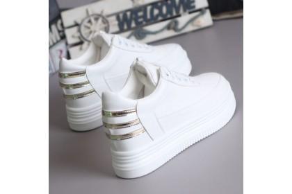 Fashionhomez 8236 Stripes White Women Sneakers ( size 35-39 )