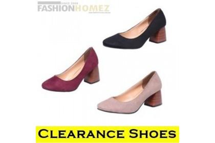 CLEARANCE  Fashionhomez 7929 Midi Retro Heels